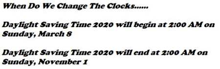 When Do We Change The Clocks